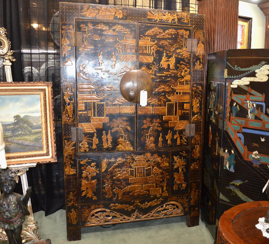 Chinese Chinoiserie Wedding Cabinet - Chinese Chinoiserie Wedding Cabinet - Asian Rarities Enterprises INC