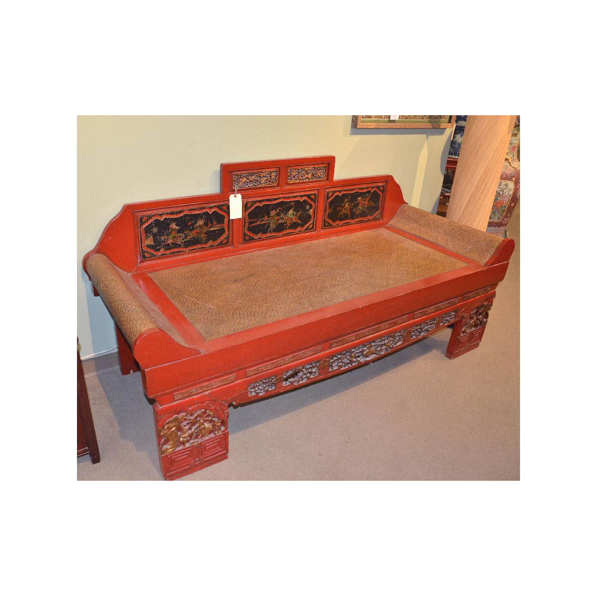 chinese carved wood  u0026 rattan daybed chinese carved wood  u0026 rattan daybed   asian rarities enterprises inc  rh   asianrarities