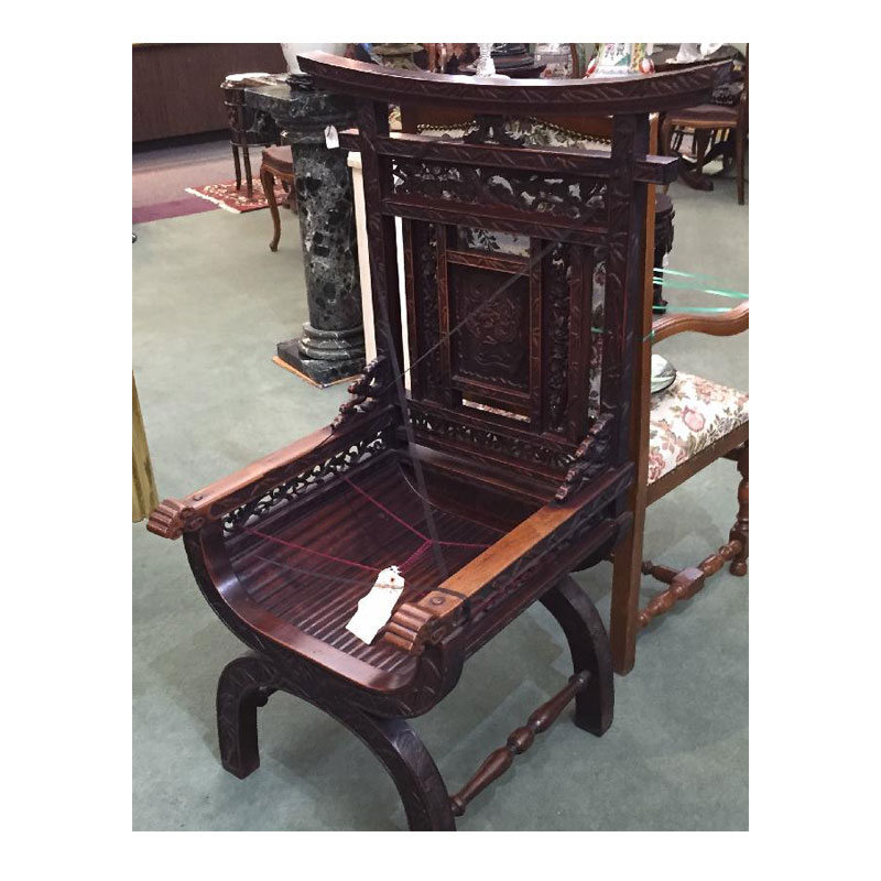 Japanese Carved Shrine Chair - Asian Rarities Enterprises INC