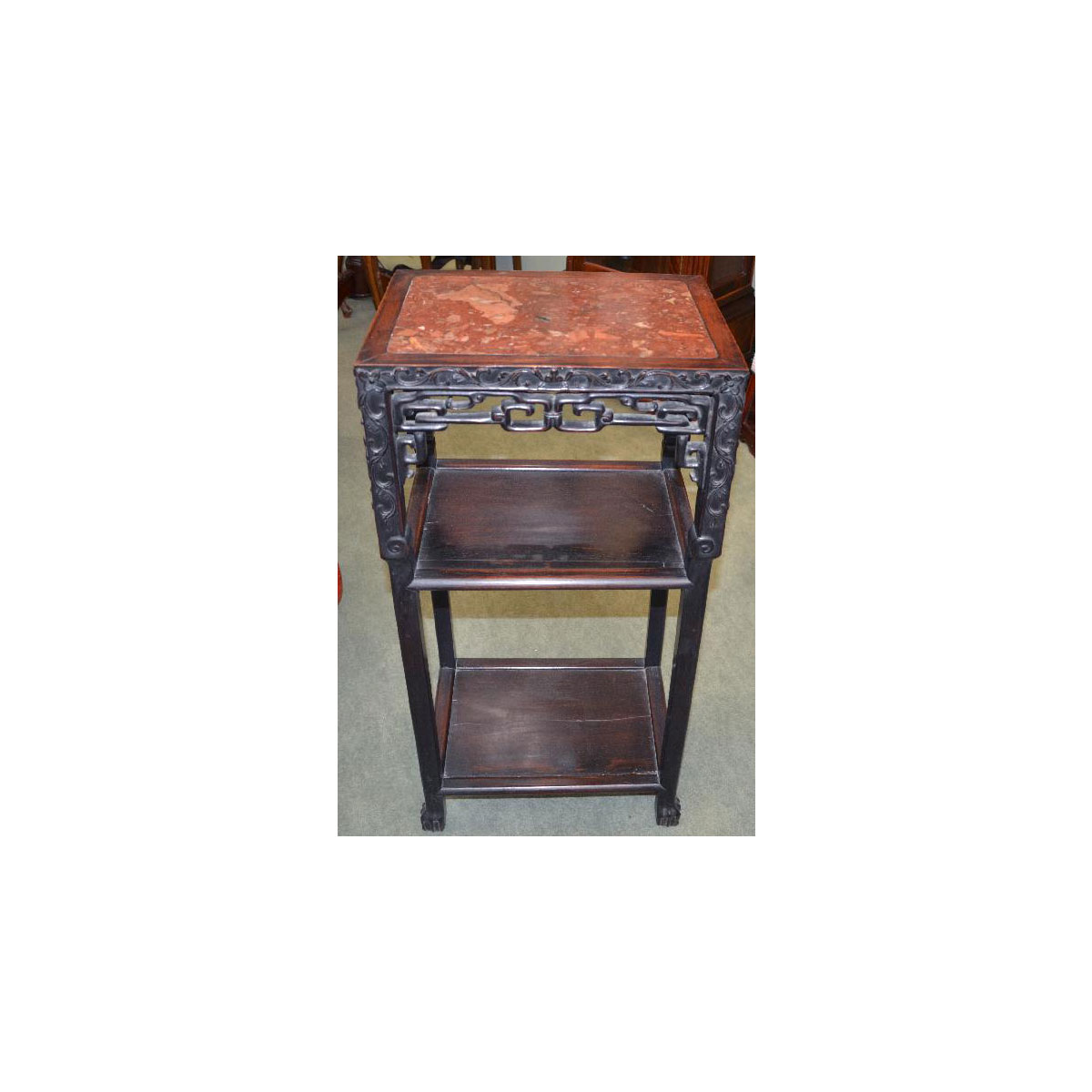 antique chinese marble top tabouret asian rarities. Black Bedroom Furniture Sets. Home Design Ideas