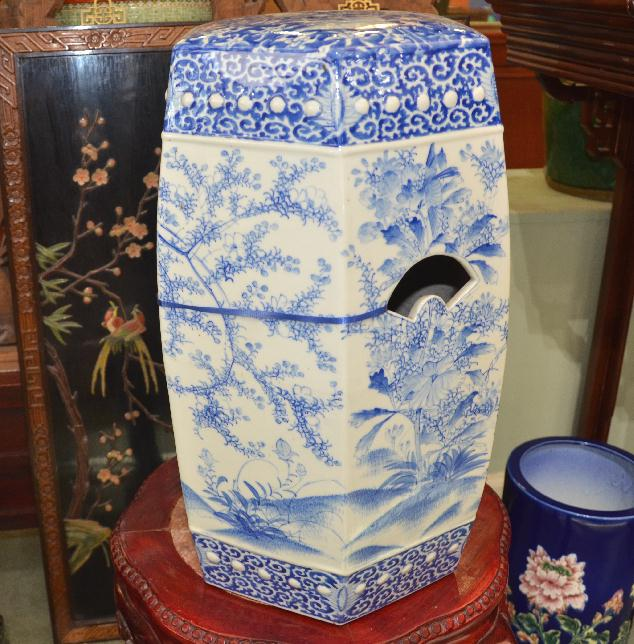 Chinese Blue u0026 White 6-Sided Garden Seat - Asian Rarities Enterprises INC & Chinese Blue u0026 White 6-Sided Garden Seat - Asian Rarities ... islam-shia.org